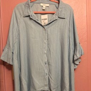 FOREVER 21 High Low Blouse, 3XL